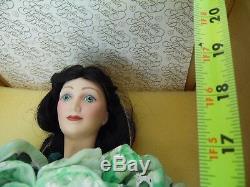 Vintage 18 Franklin Mint Scarlett O'hara Autant En Emporte Le Vent Porcelain Doll Avec Coa