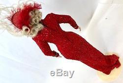 Vintage 18 Rouge Préfère Blonde Franklin Mint Heirloom Estate Poupée Marilyn Monroe
