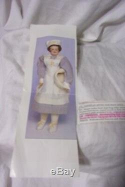 Vintage 1976 True Burkett Nurse Nora Poupée En Porcelaine 20 Fabuleux Vgc