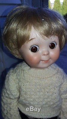 Vintage 1983 Googly Eye Boy Poupée Bisque Marqué Allemagne Marque Jdk 221 Kestner