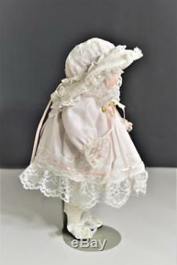 Vintage 1989 Tous Porcelain Doll Baby Girl Artiste Phyllis Parkins Signé 9 1/2