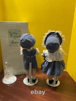 Vintage 1992 Porcelaine Effanbee Doll 15 Patsy Girl & Boy Mp 101 & 102 Le 5000