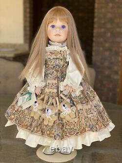 Vintage 1997 Signé Linda Rick All 24 Porcelain Doll Bears On A Line