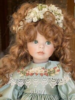 Vintage 1999 Signé Linda Rick Tous Les 24 Porcelain Doll Jerrille 94/1500
