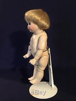 Vintage 221 Googly Porcelaine Jdk Blond Doll Hair 10 Glass Eye