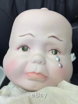 Vintage 3 Face Baby Doll 20 Porcelaine