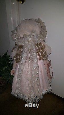 Vintage 30 Porcelain Doll Cheveux Blonds Par Elise Massey Vente Ce Week-end Seulement
