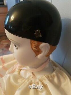 Vintage 38 1981 Schmid Michael Oks Pierrot Amour En Porcelaine Française Clown Box Doll