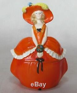 Vintage 6111 2. Boite À Bibelots Demi-poupée Demie-poupée Victorienne En Porcelaine Allemagne