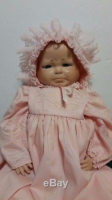 Vintage Adorable 21 Trois Visages Bébé Poupée Sourire Pleurer Complet Avec Tenue