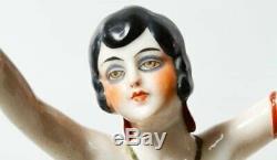 Vintage Allemagne 4 1/2 Demi-poupée, Bras Loin Flapper Nu