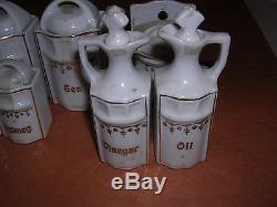Vintage / Antique 30 Piece Porcelaine Allemande Set Set Poupée Taille Sel D'épice