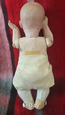 Vintage Antique Bisque Allemand Allemand Bisque Miniature Porcelaine Allemagne À La Main