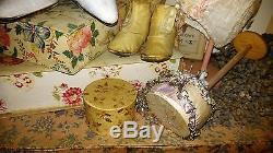 Vintage, Art-deco, Chapeau / Coussin Millinaires Avec Demi-poupée, Chapeau