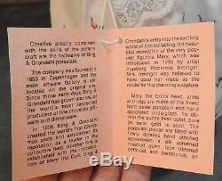 Vintage B & G Bing Et Grondahl (b & G) Mary La Poupée En Porcelaine Royale De Copenhague