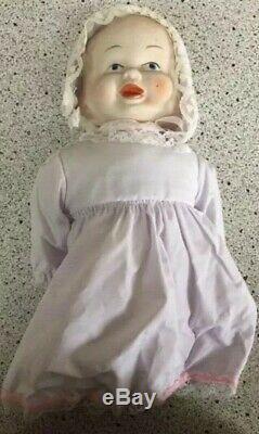 Vintage Bizarre Creepy Trois Visage Porcelaine Poupée À Tête Pivotante