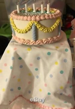 Vintage Bonne Birtday Amy Doll W Musicale Light Up Birthday Cake Gorham New Boxed