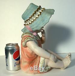 Vintage Ceramique Fille Piano Doll Andrea Par Sedek 6161 Porcelaine Figurine Statue
