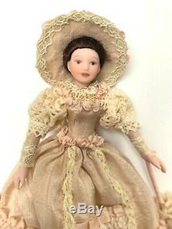 Vintage Dollhouse Miniature Lady Victorienne Handcrafted Porcelaine Poupée 112 Ooak