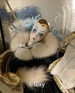 Vintage Erte Eloquence Art Deco 20 Poupée De Porcelaine Porcelaine Poupée