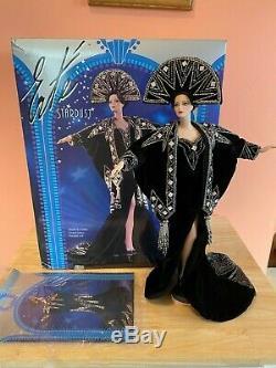 Vintage Erté Poupée Barbie Stardust 2 Série Noire En Porcelaine Poupée Avec La Boîte