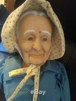 Vintage Et Grand-père Porcelaine Grand-mère Fait Main 34 Pouces Poupées