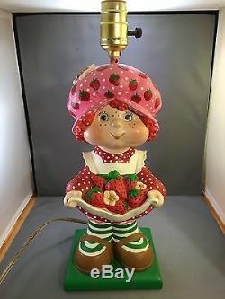 Vintage Fraisinette Lampe En Céramique Supérieure Statuaire 1981 Décor Enfant