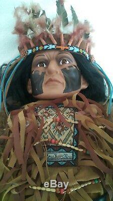 Vintage Goldenvale Native American Indian Chef 46 Poupée En Porcelaine 1-2000