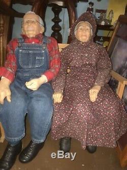 Vintage Grand 36 Grand-mère Et Grand-père Poupées 1989 Couple William Wallace Jr