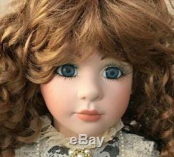 Vintage Grande Porcelaine Bisque Doll 36 Grand Chéri Illustrateurs 1993