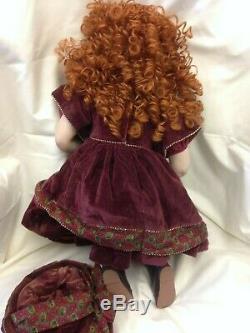 Vintage Haunted Effrayant Chine Porcelaine Poupée Rouge Française Cheveux