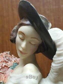 Vintage House Tosca De Icart Porcelaine Art Déco Lady 1997 The Franklin Mint