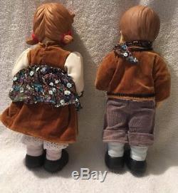 Vintage Hummel Goebel Hansel & Gretel Porcelaine Doll Figures Par Oumlet