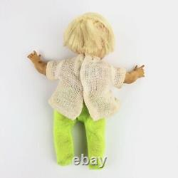 Vintage Ideal Newborn Thumbelina Doll Pull String, Working, Orignal Outfit 9