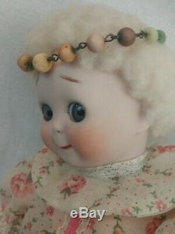 Vintage J. D. K. Googly Yeux Bisque Porcelaine Poupée 11 Reproduction Adorable