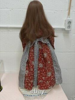Vintage June Par Donna Rubert Porcelain Doll Retired 27 Red Hair With Stand