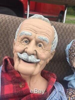 Vintage Large 36 Grand Doll Et Grandpa Dolls 1989 Couple William Wallace Jr