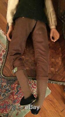 Vintage Lewis Sorensen Main Wax Colonial Style Victorien Monsieur Doll