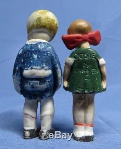 Vintage Lot Allemand Nodder Bisque Essence Alley Porcelaine Comic Figurines