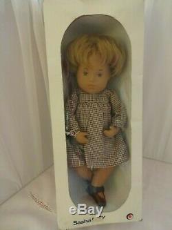 Vintage Made In England Boîte En Boîte Sasha Baby Sandy Honey Blonde Poupée Mib
