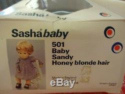 Vintage Made In England Coffret Sasha Baby Sandy Honey Blonde Poupée Mib