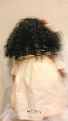 Vintage Marilyn Bolden 26 Grande Poupée De Porcelaine Afro-américaine De Vrais Cils