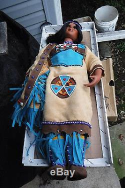 Vintage / Nib! 26 Poupée En Porcelaine Indienne Blue Bird Lmtd Ed # 200/5000 Coa Duckhouse