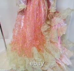 Vintage Nib 42 Rustie 1998 Shenandoah Robe Rose Southern Belle Porcelaine Poupée