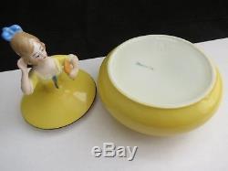 Vintage Porcelaine Art Deco Demi Poupee Lady Bouteilles A Parfum Et Bol De Poudre Bavaria