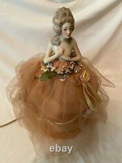 Vintage Porcelaine Demi Doll Lampe Lady Boudoir Lampe Antique