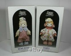 Vintage Precious Moments Bonbons & Bong Bong Clowns Porcelaine Bisque Dolls 1988