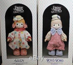 Vintage Precious Moments Bonbons Et Bong Bong Clowns Porcelaine Bisque Dolls