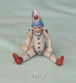 Vintage Pulcinella Bisque Français Allemand Mignonnette Clown Doll C1930s Petite Taille
