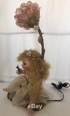 Vintage Rare Duck House Heirloom Porcelaine Poupée Fairy Lampe Lumière De Nuit